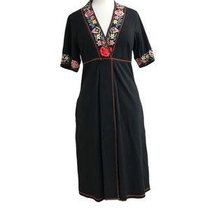 eShakti black embroidered dress 12